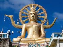 在海岛酸值苏梅岛,泰国的大菩萨雕象 库存照片