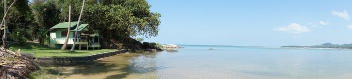 在海岛酸值Pangan的看法 免版税库存照片