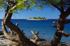 在海岛02之前的Murter海岛 库存照片