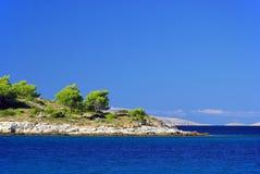 在海岛09之前的Murter小岛 免版税图库摄影
