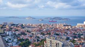 在海岛Frioul马赛法国上的看法 免版税库存照片