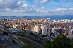 在海岛Frioul马赛法国上的看法 免版税库存图片