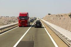 在海岛Krk,克罗地亚的桥梁 免版税库存照片