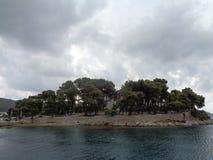 在海岛Skiatos,格雷西亚上的风暴 库存图片