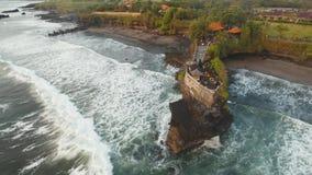 在海岛Tanah全部巴厘岛,印度尼西亚的印度寺庙 股票视频