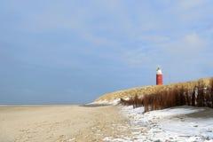 在海岸的冬天 免版税库存照片