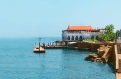 在海岸的别墅在黎巴嫩 免版税库存图片