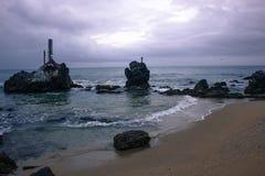 在海岸的岩石 图库摄影