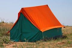 在海岸的帐篷 免版税库存照片