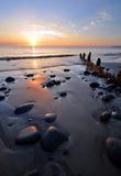 在海岸的晚上 图库摄影