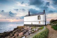 在海岸的村庄 免版税图库摄影