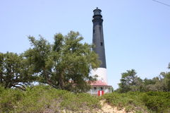 在海岸的灯塔 图库摄影