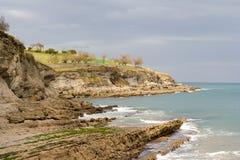 在海岸线桑坦德附近 免版税库存照片