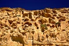 在海岸线的峭壁 库存图片