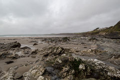 在海岸道路康沃尔郡英国英国上 免版税图库摄影
