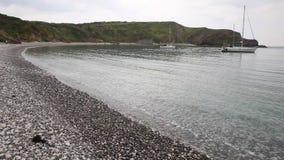 在海平面的Lulworth小海湾多西特英国英国顶面旅游胜地 股票视频