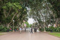 在海德公园的新娘摄影 库存照片