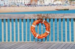 在海斯廷斯码头的蜂群 图库摄影