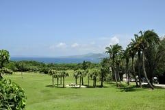 在海旁边的Ngoluanpi公园在Kenting 库存照片