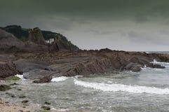 在海景的岩石 库存图片