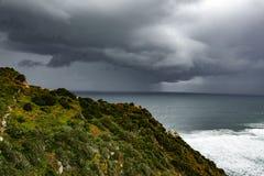 在海洋的巨大的风暴 免版税库存图片