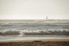 在海洋的日落 库存照片