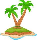 在海洋的棕榈树 免版税图库摄影