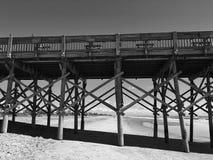 在海洋的码头 免版税库存照片