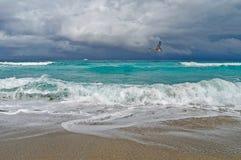 在海洋的风暴 图库摄影