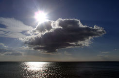 在海洋附近的大西洋布里坦尼 库存照片
