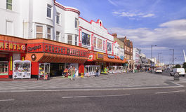 15/04/2016 - 在海海滨人行道拱廊的Southend 免版税库存照片