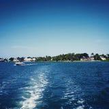 在海湾的划船 免版税图库摄影