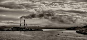 在海湾的污染 免版税库存照片