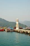 在海湾的灯塔在张岛,泰国 免版税库存图片