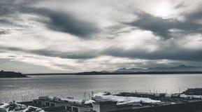 在海湾的看法在西雅图 库存图片