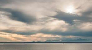 在海湾的看法在西雅图 库存照片