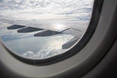 在海湾的航空器 库存照片