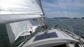 在海湾的航行远航 股票视频