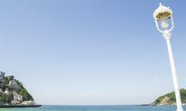 在海湾的街灯 库存照片