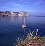 在海湾的风船 库存图片