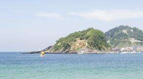在海湾的风船 免版税库存照片