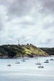 在海湾的风船 库存照片