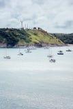 在海湾的风船 免版税库存图片