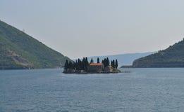在海湾的meadle的Sveti Dorde 库存图片