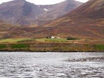 在海湾Eyjafjörður 图库摄影