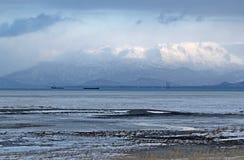 在海湾kenai山间 库存图片