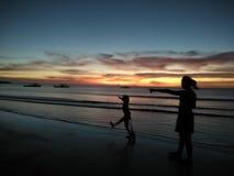 在海滨的步行 库存图片