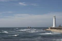 在海滨的烽火台 库存照片