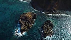 在海滨的飞行在特内里费岛 影视素材