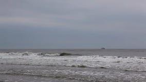 在海滩在大雨以后的斯卡恩,丹麦 影视素材